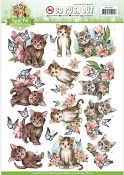 3D Push-out vel - Amy Design - Sweet Pets - Cats (katten)