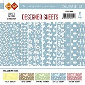 Designer Sheets - Amy Design - Sweet Pets - zachtblauw