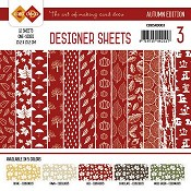 Designer Sheets Yvonne Creations - Autumn Colors -Rood
