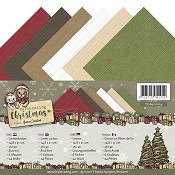 Linnenkarton A5 - Yvonne Creations - Celebrating Christmas
