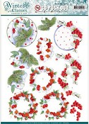 3D Pushout - Jeanine`s Art - Winter Classics - Winterberries