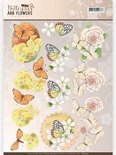 3D knipvel - Jeanine`s Art - Butterflies & Flowers - Yellow Flowers