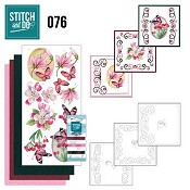 Stitch and Do 76 - Pink Flowers  (Roze Bloemen)