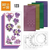 Dot & Do 123 - Jeanine`s Art - Purple Flowers