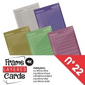 Frame Layered Cards nr. 22 - Stickerset