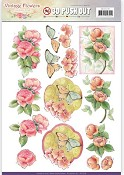 Push-out vel - Jeanine`s Art - Vintage Flowers - Sweetheart Pink