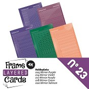 Frame Layered Cards nr. 23 - Stickerset
