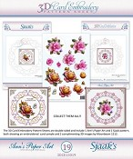 Ann`s Paperart - 3D Card Embroidery Pattern Sheet #19 with Ann & Sjaak
