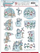 3D Push-out - Yvonne Creations - Christmas Dreams - Snowman