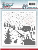 Snij- en Embossing Folder - Yvonne Creations - Christmas Dreams - Snowman