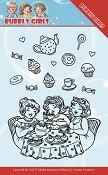 Clear Stamp - Yvonne Creations - Bubbly Girls - Tea Party