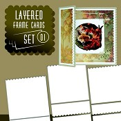 Layered Frame Cards Set - 01