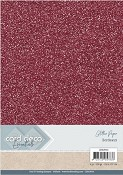 Card Deco Essentials - Glitter karton - Bordeaux