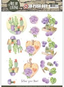 Push-out - Jeanine`s Art - Art of Living - Purple Art