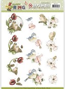 3D Push-out vel Precious Marieke - Happy Spring - Blije Vogels
