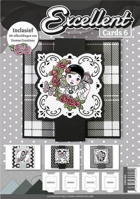 Excellent Cards nr. 6 - Pierrot Yvonne Creations